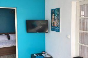 Salon avec Télévision Gîte Saint Palais